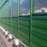 Transparent Noise Barrier with Metallic